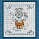Cross-Stitch Embroidery Color Pattern with DMC codes -  Bath Time #5