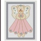 Cross-Stitch Embroidery Color Pattern with DMC codes - Cute Tedy Bear Angel