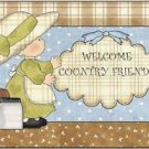 Primitive Country Folk Art Kitchen Refrigerator Magnet - Little Farm Girl #3