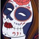 Decor Collectible Kitchen Fridge Magnet - Flower Sugar Skull Girl #4