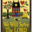 Primitive Country Folk Art Kitchen Refrigerator Magnet - We Will Serve The Lord