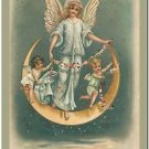 Victorian Collectible Refrigerator Fridge Vintage Magnet - Beautiful Moon Angels