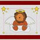 Cross-Stitch Embroidery Color Pattern with DMC codes - Angel Animals - Lion
