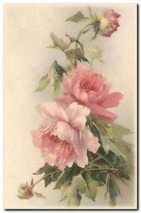 Beautiful Vintage Decor Collectible Kitchen Fridge Magnet - Pink Wild Roses