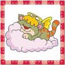 Beautiful Cute Decor Collectible Kitchen Fridge Magnet - Sleeping Angel Cat #7
