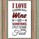 Beautiful Fun Decor Design Collectible Kitchen Fridge Magnet - Cooking with Wine