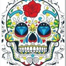 Decor Collectible Kitchen Fridge Magnet - Flower Sugar Skull #3
