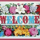 Vintage Collectible Art Kitchen Fridge Refrigerator Magnet - Flower Welcome