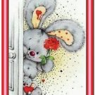Cute Valentine's Day Love Kitchen Refrigerator Magnet - Sweet Bunny and Mouse