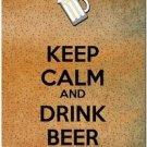 Keep Calm Collectible Art Kitchen Fridge Refrigerator Magnet - Drink Beer