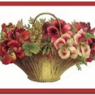Beautiful Vintage Decor Collectible Kitchen Fridge Magnet - Garden Flowers #5