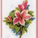 Beautiful Vintage Decor Collectible Kitchen Fridge Magnet - Garden Flowers #2