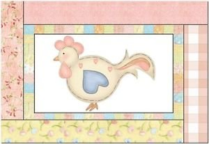 Primitive Country Folk Art Kitchen Refrigerator Magnet - Country Chicken #4