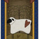 Primitive Country Folk Art Kitchen Refrigerator Magnet - Prim Country Sheep #2