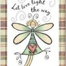 Primitive Country Folk Art Kitchen Refrigerator Magnet - Cute Love Fairy