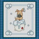 Cross-Stitch Embroidery Color Pattern with DMC codes -  Bath Time #4
