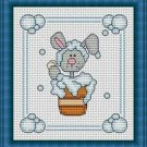 Cross-Stitch Embroidery Color Pattern with DMC codes -  Bath Time #2