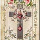 Primitive Country Folk Art Kitchen Refrigerator Magnet ~ Victorian Religion #8