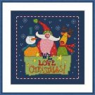 Cross-Stitch Embroidery Color Pattern with DMC thread code-We love Christmas!