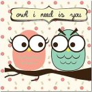 Beautiful Decor Design Collectible Kitchen Fridge Magnet - Owl I need is you