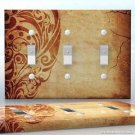 3 gang Wall Plate Toggle Light Switch Cover Vinyl Sticker Decal - Retro Wall