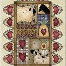Primitive Country Folk Art Kitchen Refrigerator Magnet - Penny Rug Prim Life