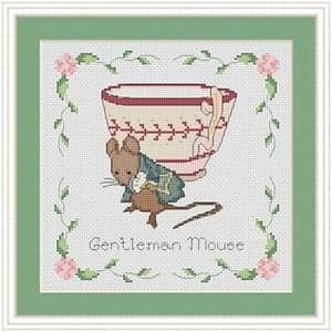 Cross-Stitch Embroidery Color Pattern with DMC code-The Tale of Peter Rabbit #13