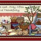 Primitive Country Folk Art Kitchen Refrigerator Magnet - I love Baskets! #4