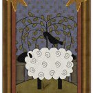 Primitive Country Folk Art Kitchen Refrigerator Magnet - Prim Country Sheep #3