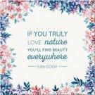 Primitive Country Folk Art Kitchen Refrigerator Magnet - Van Gogh Quote