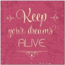 Beautiful Quote Decor Design Collectible Kitchen Fridge Magnet -Keep Your Dreams
