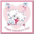Cute Valentine's Day Love Kitchen Refrigerator Magnet - Little Polar Bear Couple