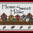 Cross-Stitch Embroidery Color Digital Pattern w. DMC codes - Home Sweet Home