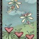Primitive Country Folk Art Kitchen Refrigerator Magnet - Cute Love Fairies #2