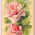 Beautiful Vintage Decor Collectible Kitchen Fridge Magnet - Red - Pink Roses #2