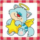 Beautiful Cute Decor Collectible Kitchen Fridge Magnet - Sleeping Angel Cat #9