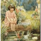 Beautiful Vintage Decor Collectible Kitchen Fridge Magnet - The Water Lily Pond