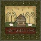 Primitive Country Folk Art Kitchen Refrigerator Magnet - Home Sweet Home #4