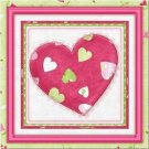 Primitive Country Folk Art Kitchen Refrigerator Magnet - Patchwork Heart