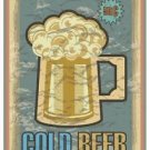 Beautiful Retro Decor Collectible Kitchen Fridge Magnet - Cold Beer