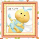 Primitive Country Folk Art Kitchen Refrigerator Magnet -Cute BabyBee Greeting #2
