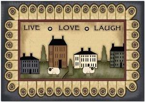 Primitive Country Folk Art Kitchen Refrigerator Magnet - Live Love Laugh