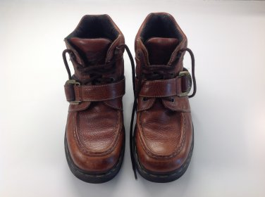 Doc Martens Leather Ankle Boots With Buckle Mens Size UK 9 fits like a US 10