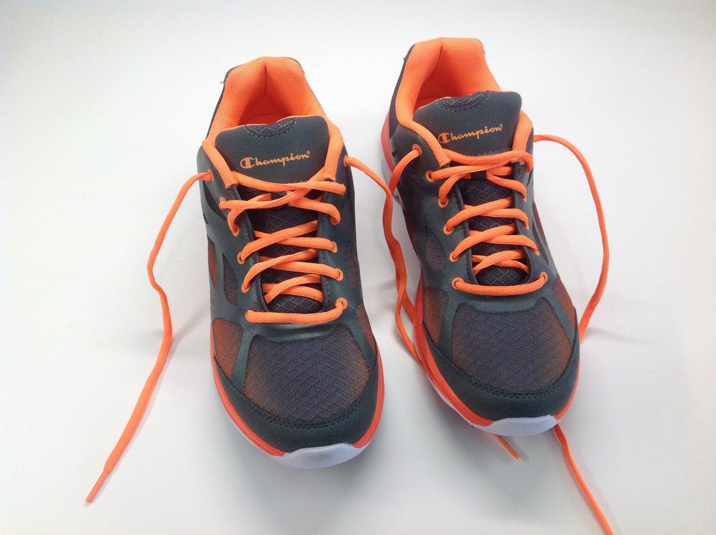 Champions Grey and Orange Mesh Running Shoe Mens Size 10