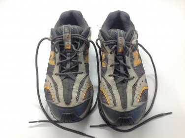 New Balance All Terrain Grey Tennis Shoes with Yellow Accents Mens Size 10.5