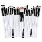 Make Up Brush Brushes Set in best value, Blush Eye Shadow Foundation Eyebrow Lip Brush in White