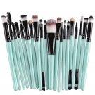 Make Up Brush Brushes Set in best value, Blush Eye Shadow Foundation Eyebrow Lip Brush in Green