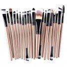 Make Up Brush Brushes Set in best value, Blush Eye Shadow Foundation Eyebrow Lip Brush in Coffee