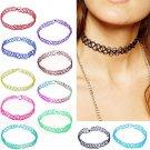 12 Colors 12 Pcs/pack Gothic Punk Vintage Stretch Elastic Chokers Necklace Elastic Women Jewelry