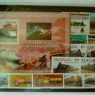 Set- 12 Stamps, Souvenir Sheet, vintage Cars, Trains, Steam Engines, Locomotives